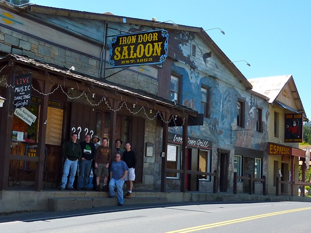 Yup, we had our first official meal at the Iron Door Saloon!