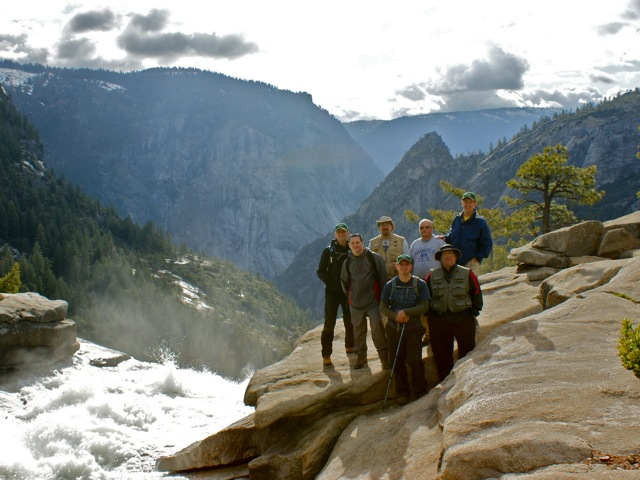 The Guys at the Top of Nevada Falls